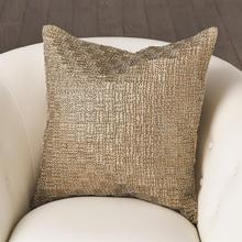 Beaded Basketweave Pillow-Antique Gold