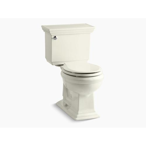 Biscuit Two-piece Round-front 1.28 Gpf Chair Height Toilet With Insulated Tank