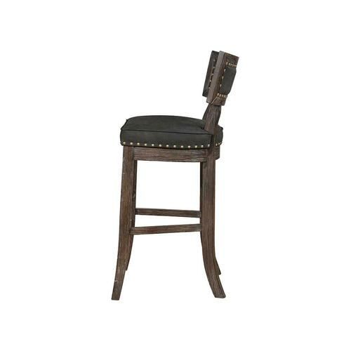 Rustic Black Bar-height Dining Chair