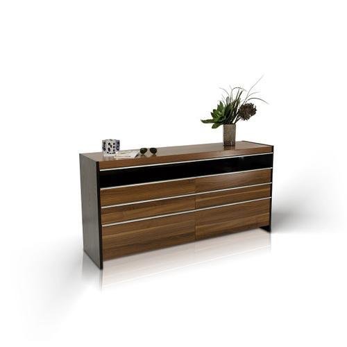 Modrest Rondo Modern Walnut Bedroom Set