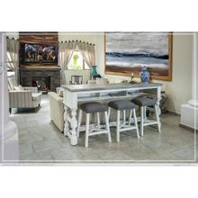 See Details - Counter Height Sofa/Console Table w/Shelf and Levelers