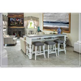 Counter Height Sofa/Console Table w/Shelf and Levelers