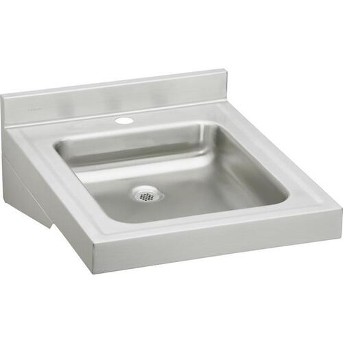 "Product Image - Elkay Sturdibilt Stainless Steel 19"" x 23"" x 4"", Wall Hung Single Bowl Lavatory Sink"