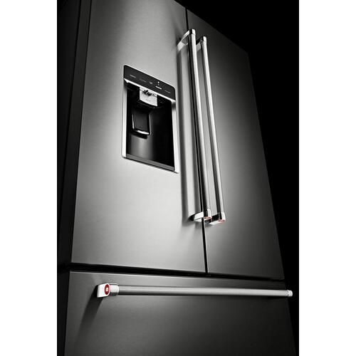"23.8 cu. ft. 36"" Counter-Depth French Door Platinum Interior Refrigerator Stainless Steel"
