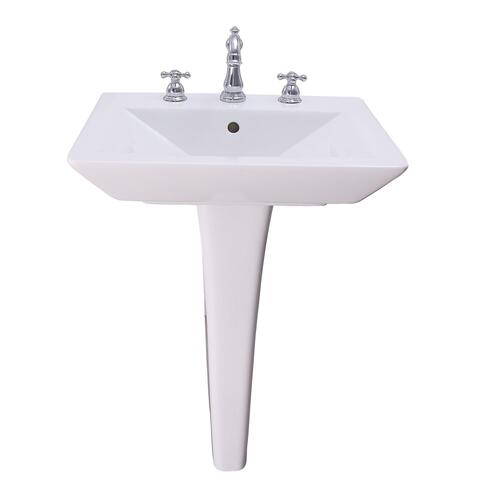 "Opulence Pedestal Lavatory - ""His"" - 8"" Widespread"