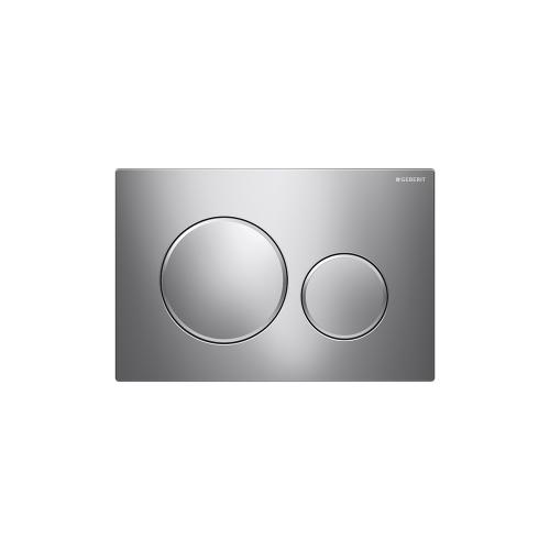 Sigma20 Dual-flush plates for Sigma series in-wall toilet systems Polished chrome with matte chrome accent Finish