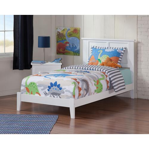 Madison Twin Bed in White