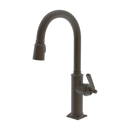Newport Brass - Weathered Brass Pull-down Kitchen Faucet