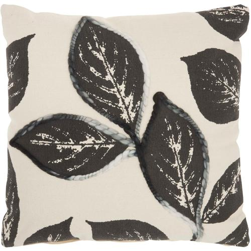 """Life Styles Sh031 Charcoal 20"""" X 20"""" Throw Pillow"""