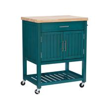 Sydney Teal Kitchen Cart