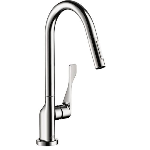 Chrome HighArc Kitchen Faucet 2-Spray Pull-Down, 1.75 GPM