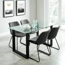 See Details - Franco/Calvin 5pc Dining Set, Black/Vintage Charcoal