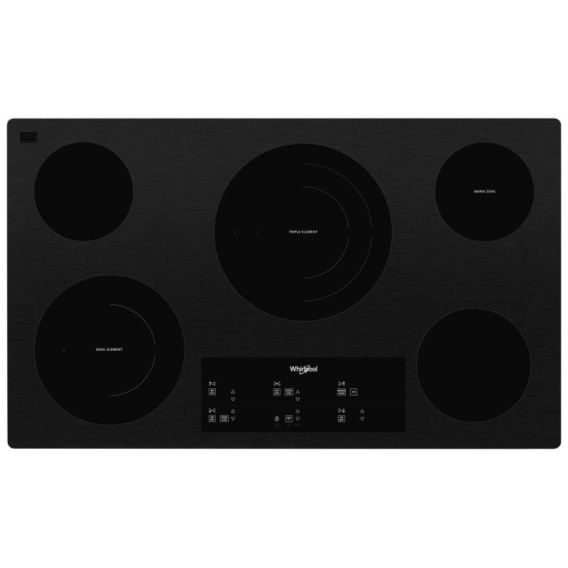36-inch Electric Ceramic Glass Cooktop with Triple Radiant Element Black