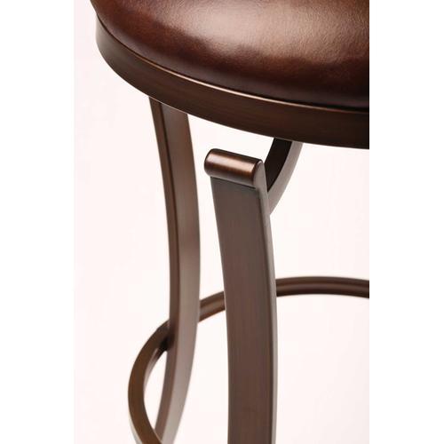 Gallery - Kelford Backless Swivel Bar Stool, Bronze