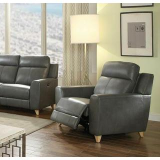 ACME Cayden Recliner (Power Motion) - 54202 - Gray Leather-Aire Match