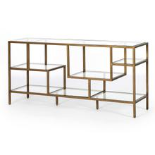Helena Media Console-antique Brass