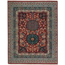"Estate-Journey Red Teal - Rectangle - 5'6"" x 8'6"""