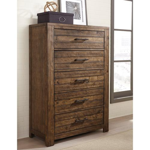 S290-040  Chest with Five Drawers and Distressed Finish - Dakota