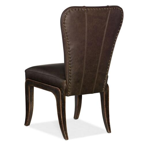 Dining Room Crafted Leather Side Chair - 2 per carton/price ea