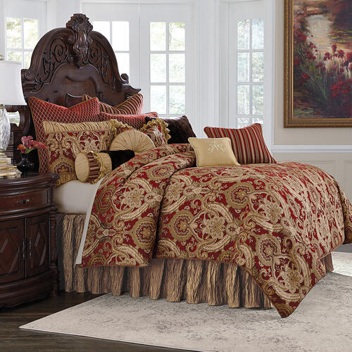 Lafayette 13 pc King Comforter Set Red