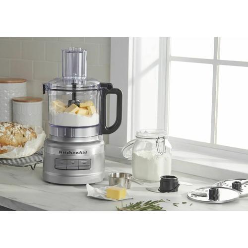 KitchenAid - 7 Cup Food Processor Plus - Contour Silver