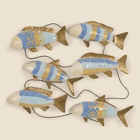 Mosaic Metal Fish Wall Hanging