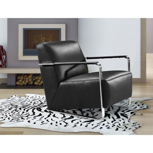 VIG Furniture - Divani Casa Bison Modern Black Leather Lounge Chair