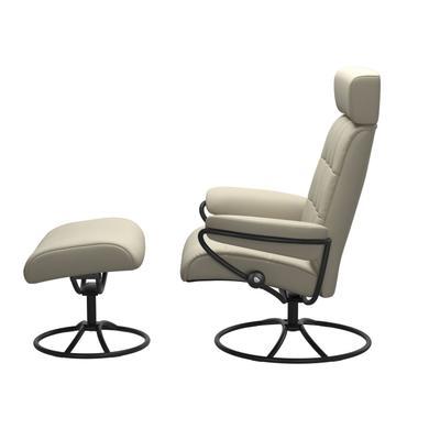 See Details - Stressless® London Original Adjustable headrest Chair with Ottoman