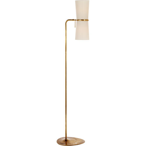AERIN Clarkson 58 inch 40 watt Hand-Rubbed Antique Brass Floor Lamp Portable Light