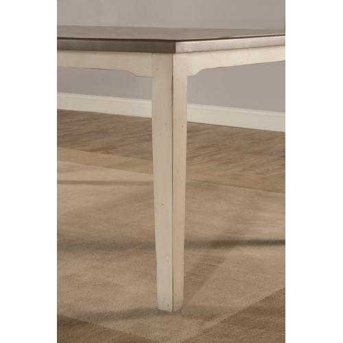 Gallery - Clarion Rectangle Dining Table - Distressed Gray Top With Sea White Base