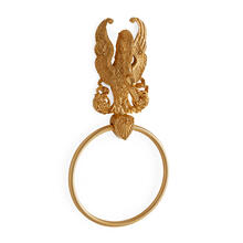 Antique Gold Imperial Swan Towel Ring