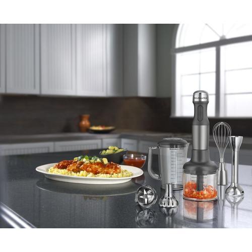KitchenAid - 5-Speed Hand Blender Contour Silver