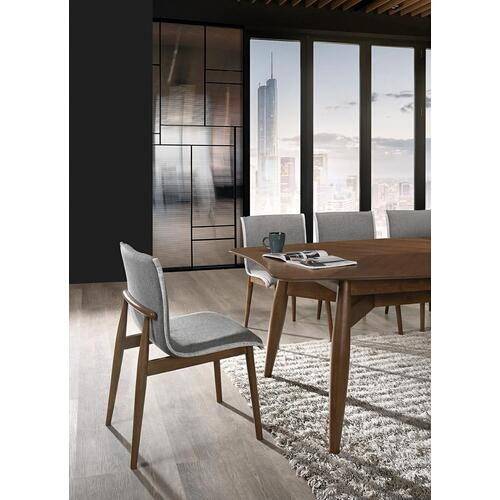VIG Furniture - Modrest Ackley - Modern Walnut and Grey Fabric Dining Chair- Set of 2