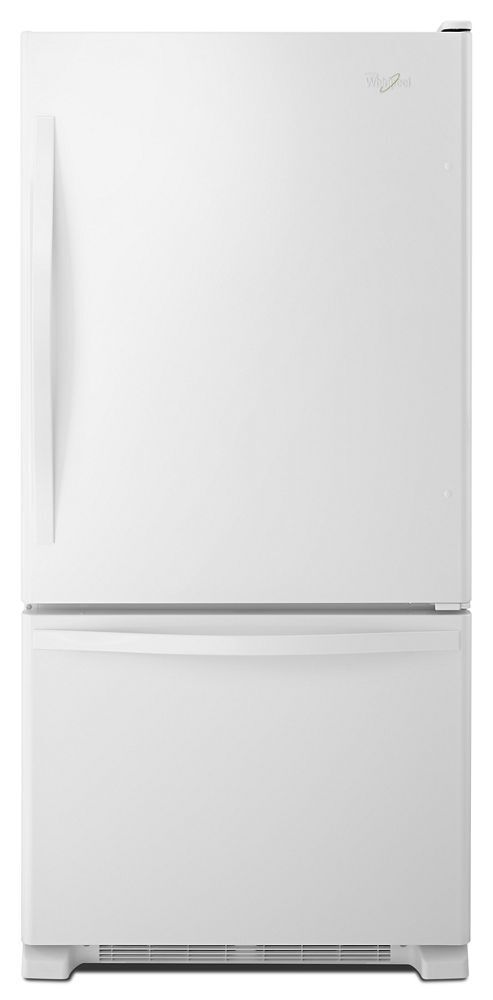 Whirlpool33-Inches Wide Bottom-Freezer Refrigerator With Spillguard™ Glass Shelves - 22 Cu. Ft