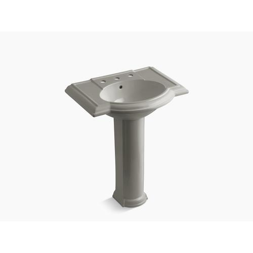 """Cashmere 27"""" Pedestal Bathroom Sink With 8"""" Widespread Faucet Holes"""