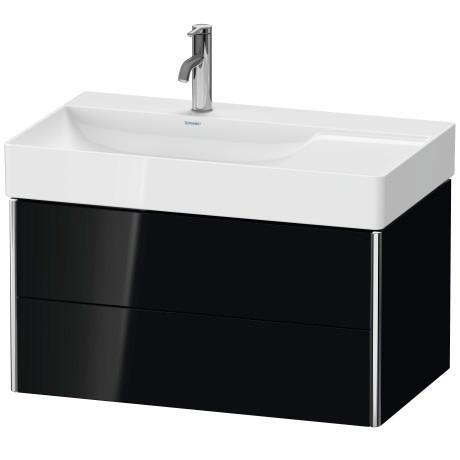 Product Image - Vanity Unit Wall-mounted, Black High Gloss (lacquer)