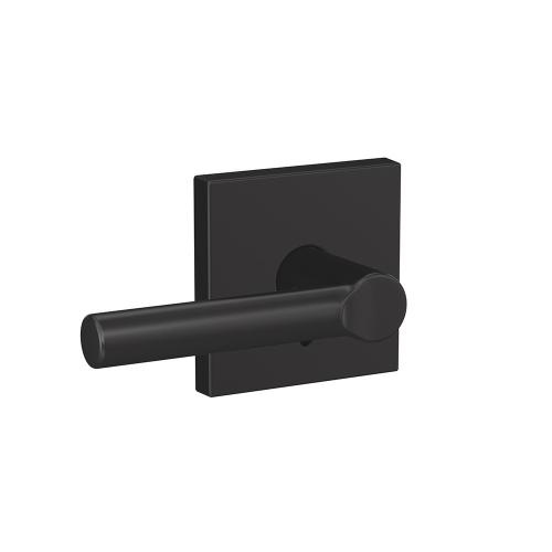 Custom Broadway Lever with Collins Trim Hall-Closet and Bed-Bath Lock - Matte Black