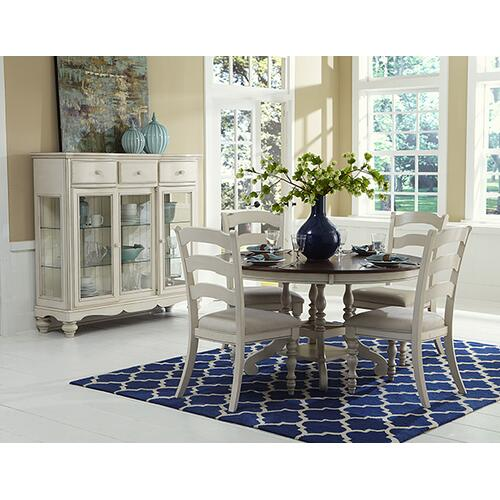 Product Image - Pine Island 5pc Dining With Ladderback Chairs - Old White