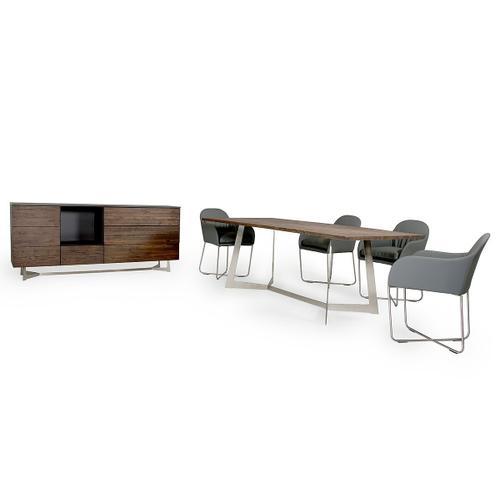 Product Image - Modrest Wharton Modern Dark Aged Oak Dining Set