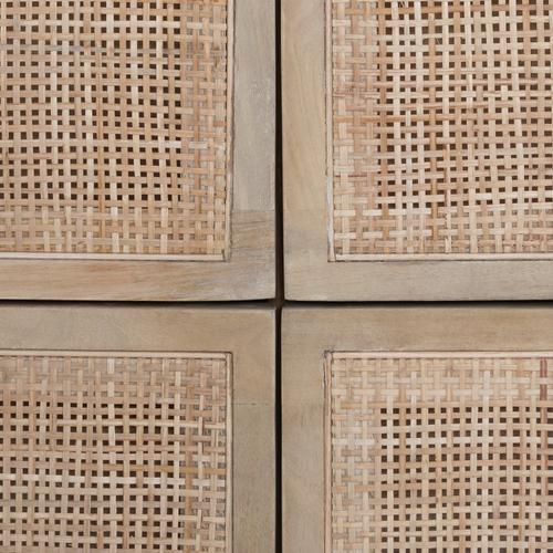 Natural Mango Finish Sydney 6 Drawer Dresser