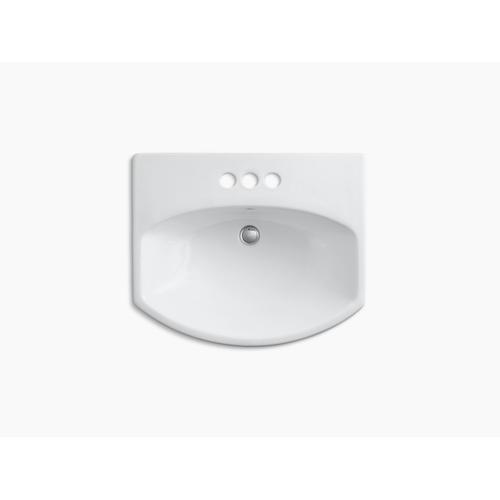 "Sandbar Pedestal Bathroom Sink With 4"" Centerset Faucet Holes"