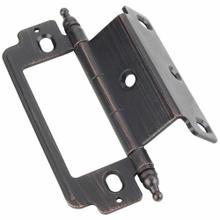 "View Product - 270° Partial Wrap for 3/4"" Frame x 3/4"" Door, Inset Flush, Minaret Tip Hinge - Dark Brushed Antique Copper"