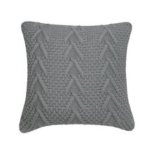 Cable Knit Cushion - Grey / Cover Only