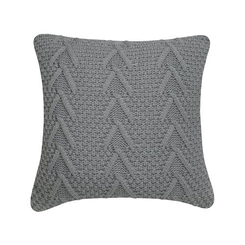 Cable Knit Cushion - Tan / 100% Duck Feather