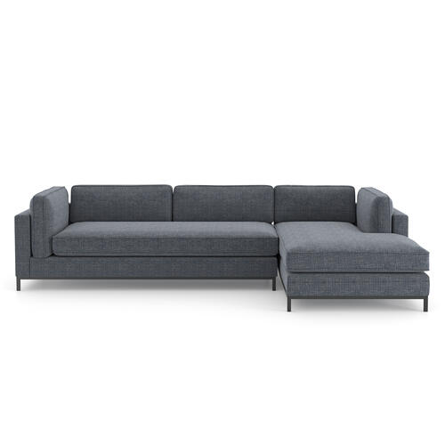 Right Chaise Configuration Cypress Navy Cover Grammercy 2-piece Chaise Sectional