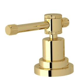 Campo U-Spout Widespread Bathroom Faucet - Unlacquered Brass with Industrial Metal Lever Handle