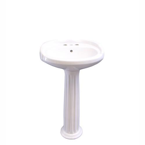 "Product Image - Silvi 20"" Pedestal Lavatory - 4"" Centerset"