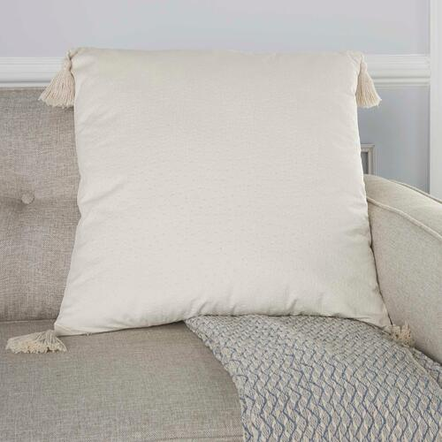 "Life Styles Et093 Ivory 24"" X 24"" Throw Pillow"