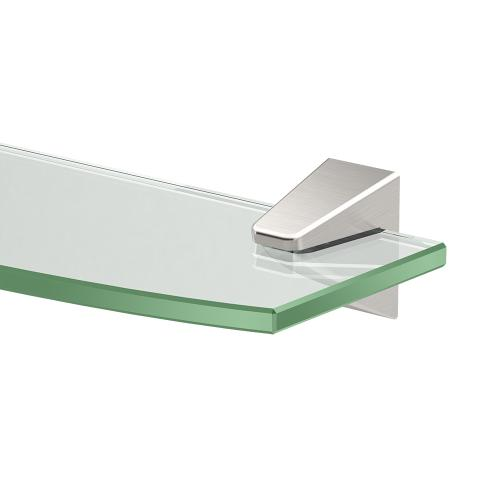 Quantra Glass Shelf in Satin Nickel