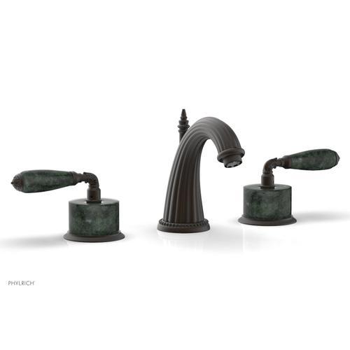 VALENCIA Widespread Faucet Green Marble K338F - Oil Rubbed Bronze